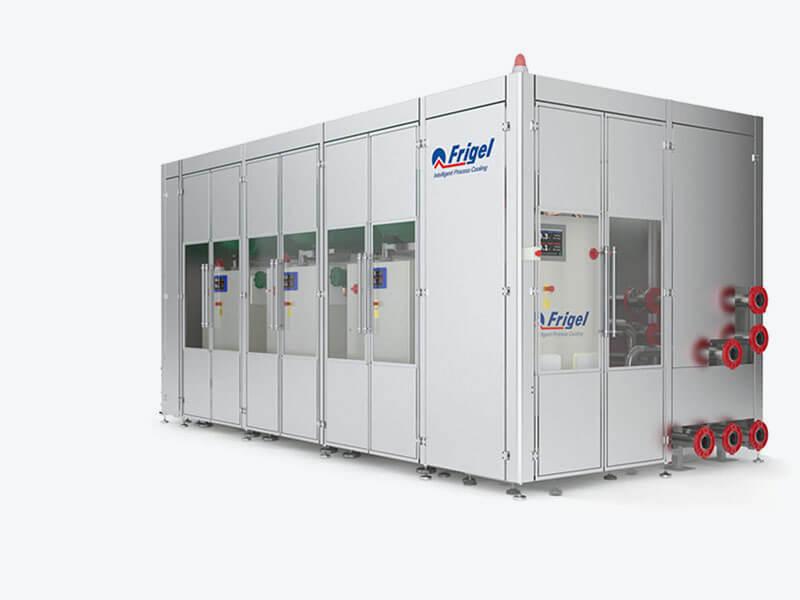 Sistema integrato di refrigerazione in cascata