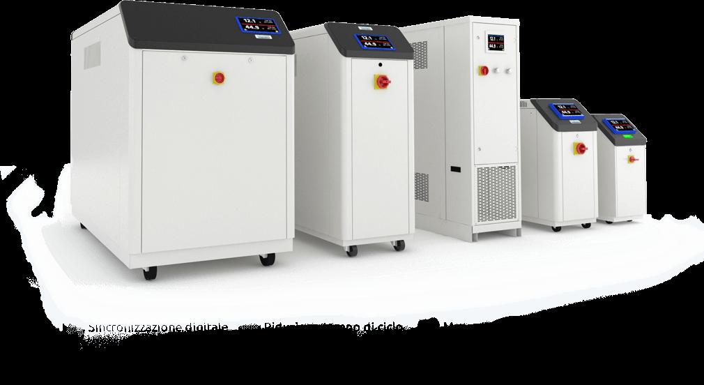 unità di termoregolazione sincronizzate con il processo